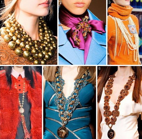 Модные украшения осень-зима 2014-2015