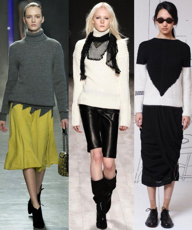 Модный женский свитер зима 2015