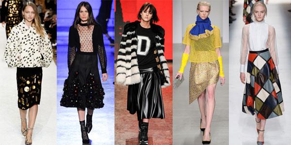 Модные юбки зима 2014-2015