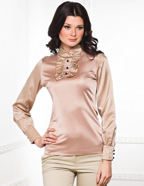 Женская блузка атласная