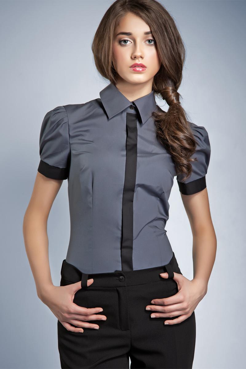 Женская блуза серого цвета