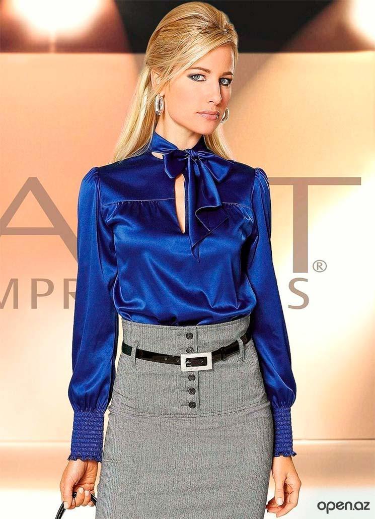 Синяя блузка женская