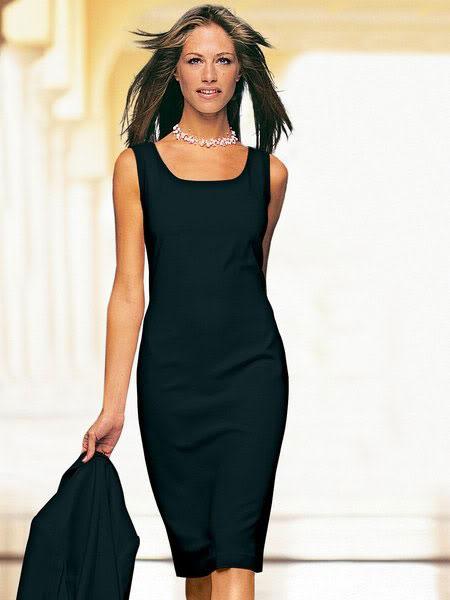 Платье-футляр чёрное