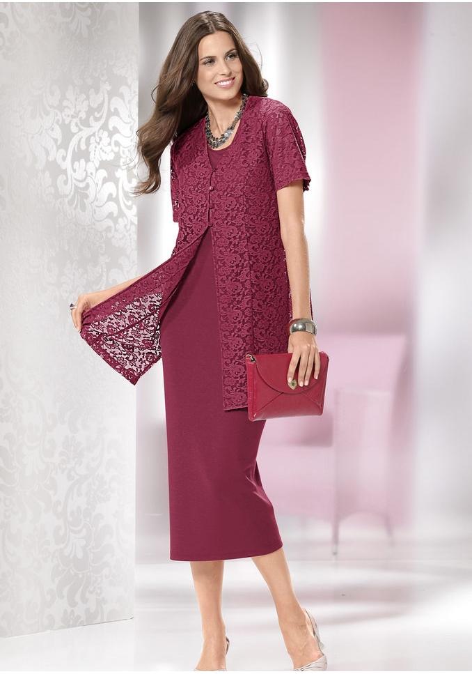 Платье-футляр вишнёвого цвета
