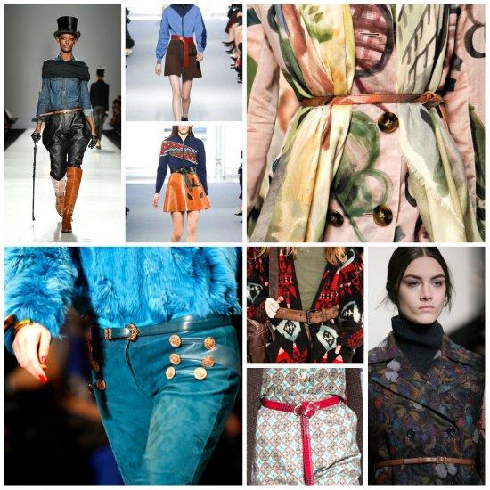 Модные женские ремни зима 2014-2015