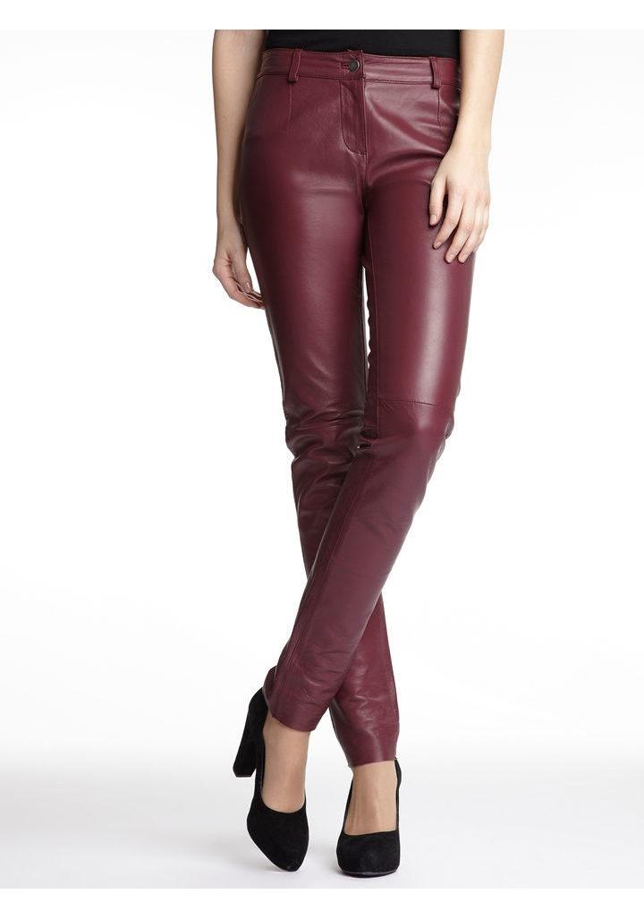 Женские брюки кожаные