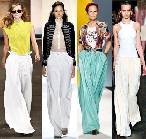 Женские брюки-паруса