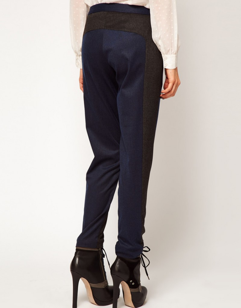 Женские брюки тёмно-синие