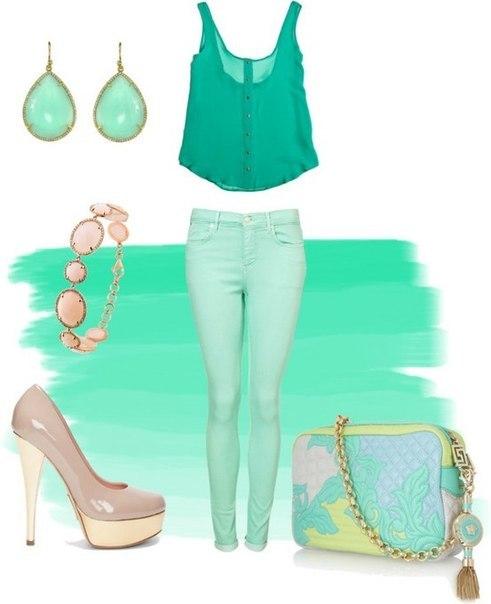 Женские брюки коралл