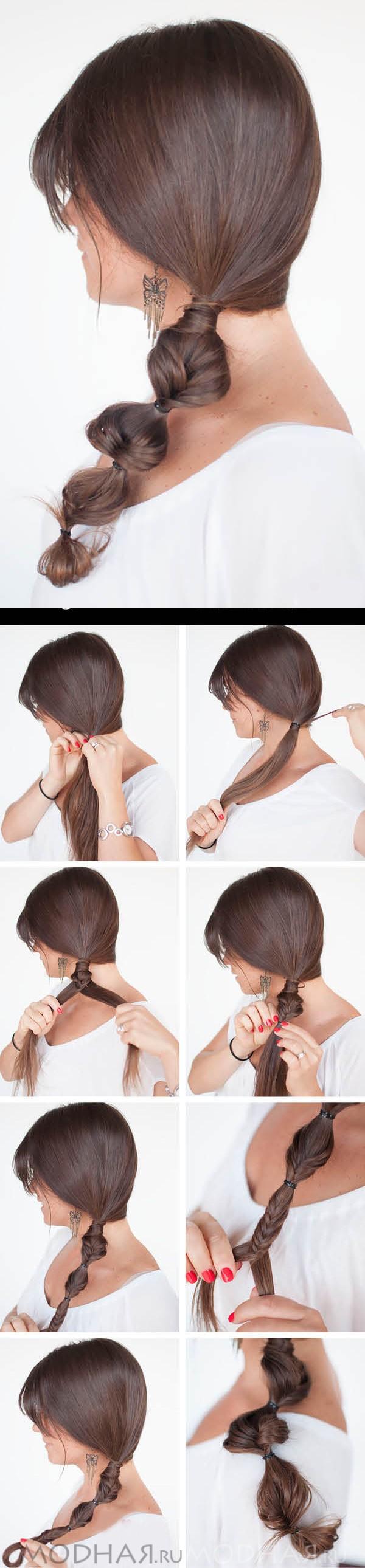 Как сделать прическу самой себе пошагово