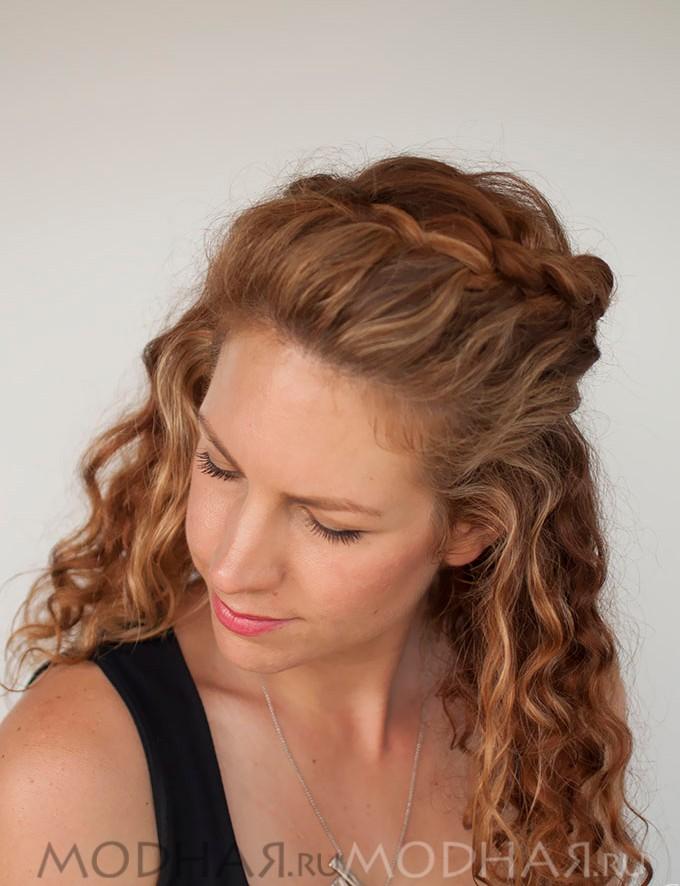 заплести косу самой себе фото