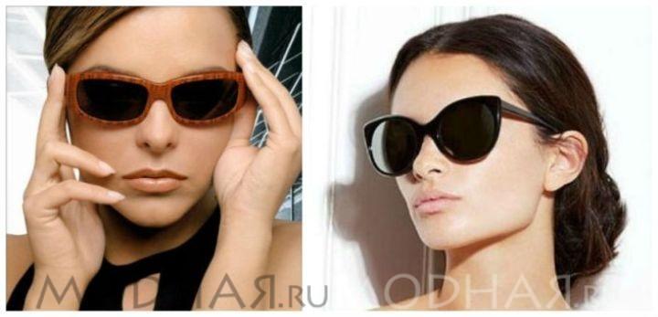Солнечные очки по форме лица