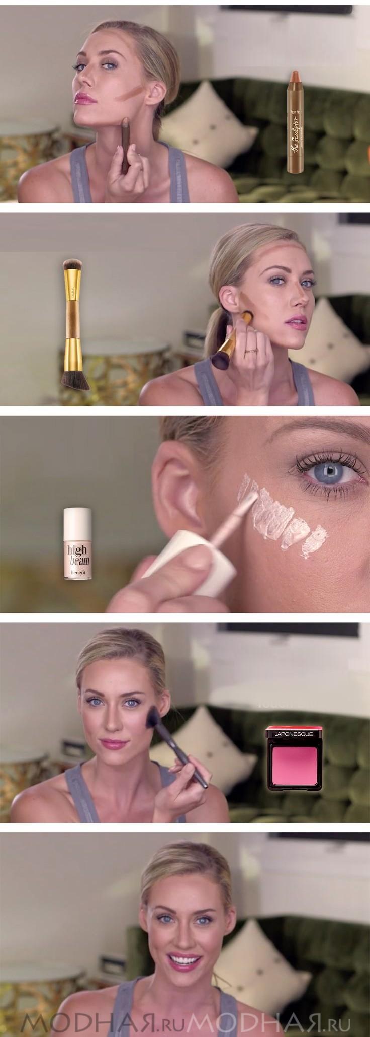 Новое лицо с модным макияжем кожи