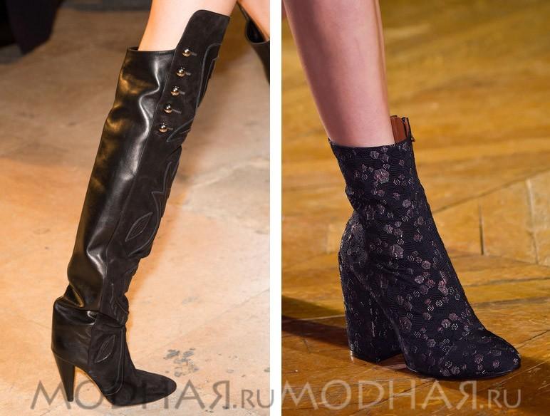 Модная обувь осень зима фото