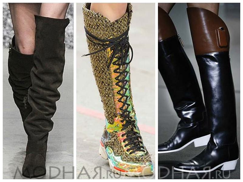Модные женские сапоги 2015-2016