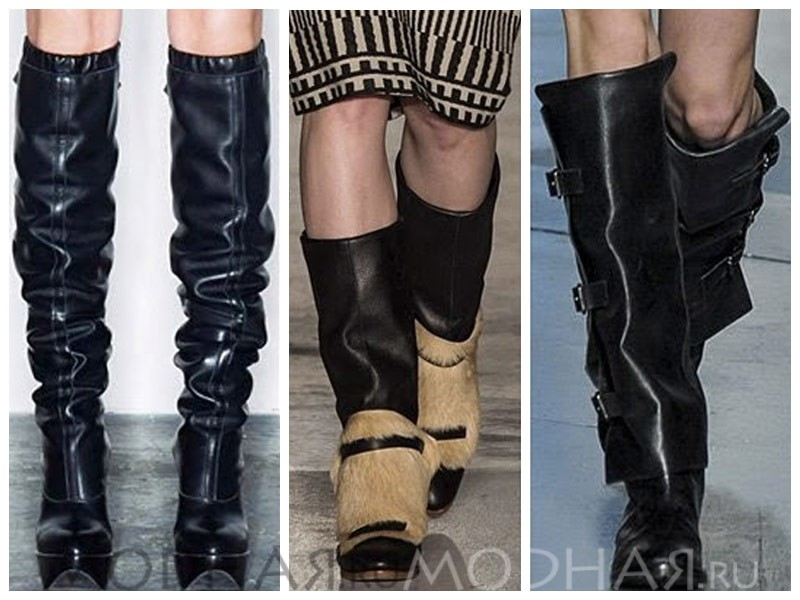 Основные тенденции модных зимних женских сапог