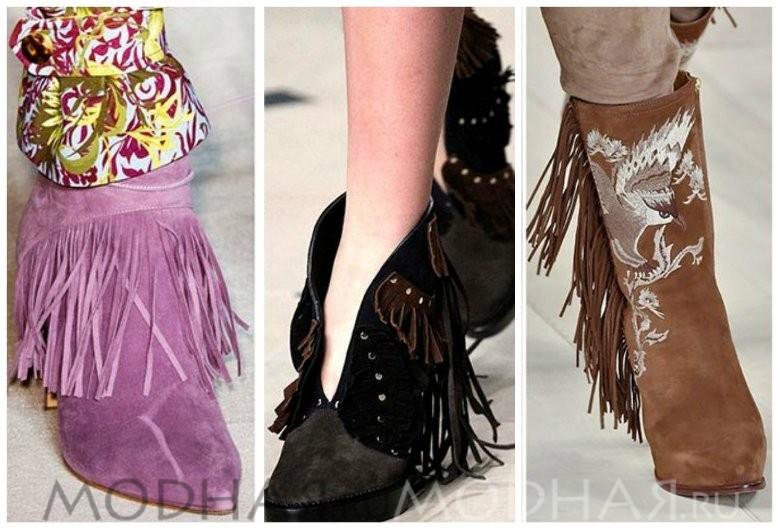 Модная обувь 2016 весна для женщин фото ботильоны с бахромой