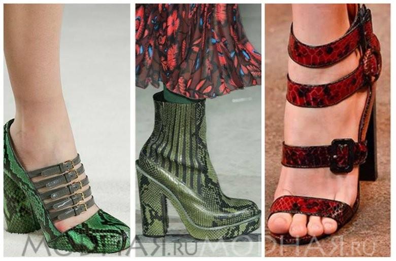 Модная обувь 2016 весна для женщин фото кожа рептилий
