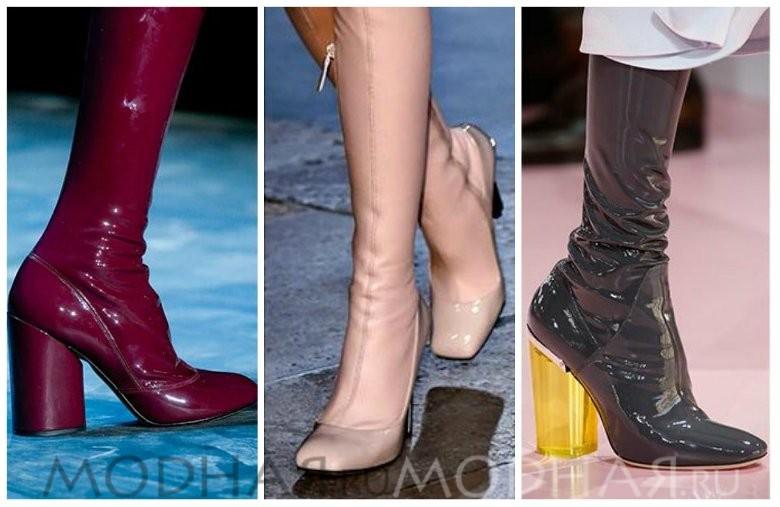 Модная обувь 2016 весна для женщин фото сапоги из латекса