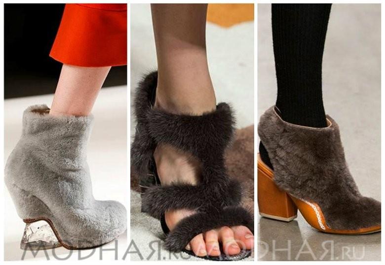 Модная обувь 2016 весна для женщин фото с мехом
