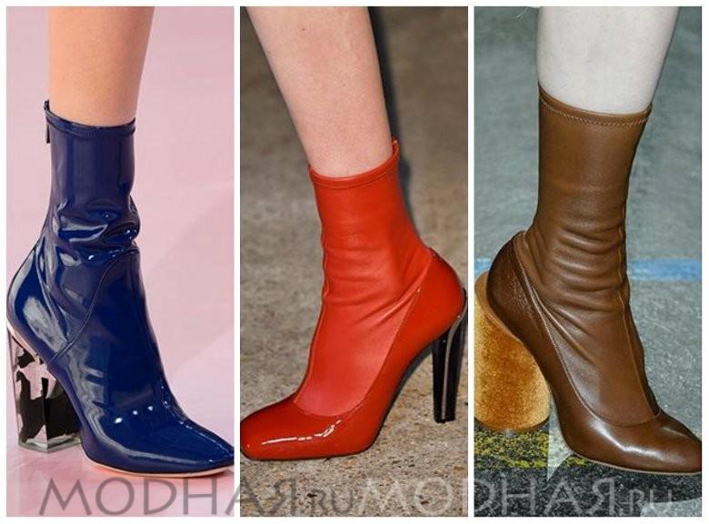 Модная обувь 2016 весна для женщин фото ботинки чулки