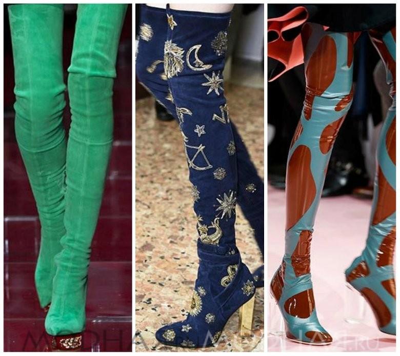 Модная обувь 2016 весна для женщин фото сапоги ботфорды
