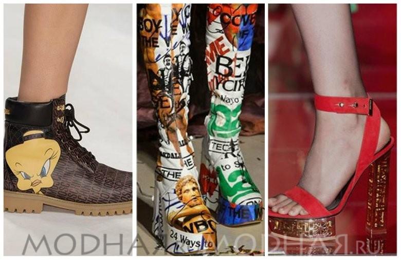 Модная обувь 2016 весна для женщин фото принт