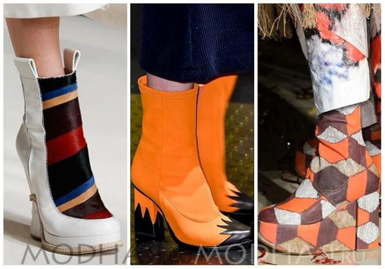 Модная обувь без каблука весна 2016 фото с гафичными апликациями