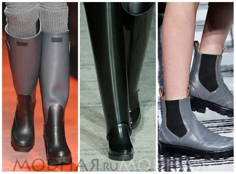Модная обувь без каблука весна 2016 фото резиновые сапоги