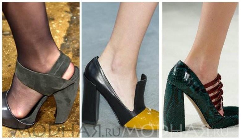Модная обувь 2016 весна для женщин фото массивный каблук