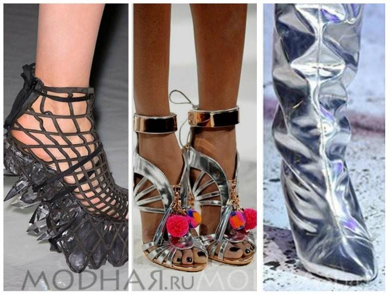 Модная обувь 2016 весна для женщин фото серебристый металлик