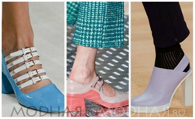 Модная обувь 2016 весна для женщин фото геометричный каблук