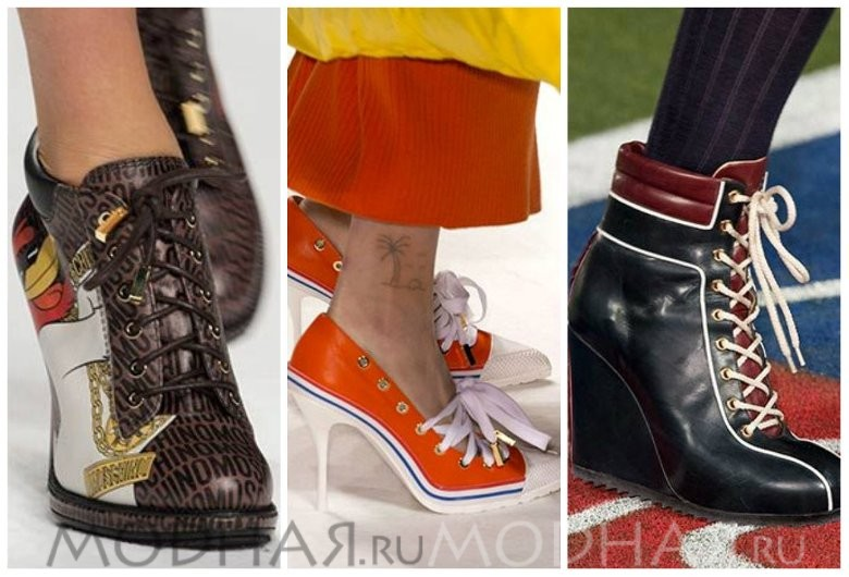 Модная спортивная обувь весна 2016 фото на каблуке