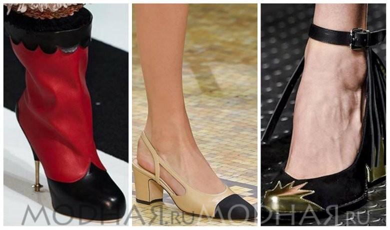Модная обувь 2016 весна для женщин фото контрастный носок