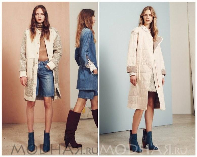 Пальто женское модное осень зима