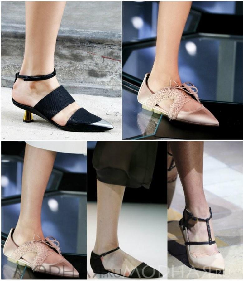 Фото модной обуви без каблука