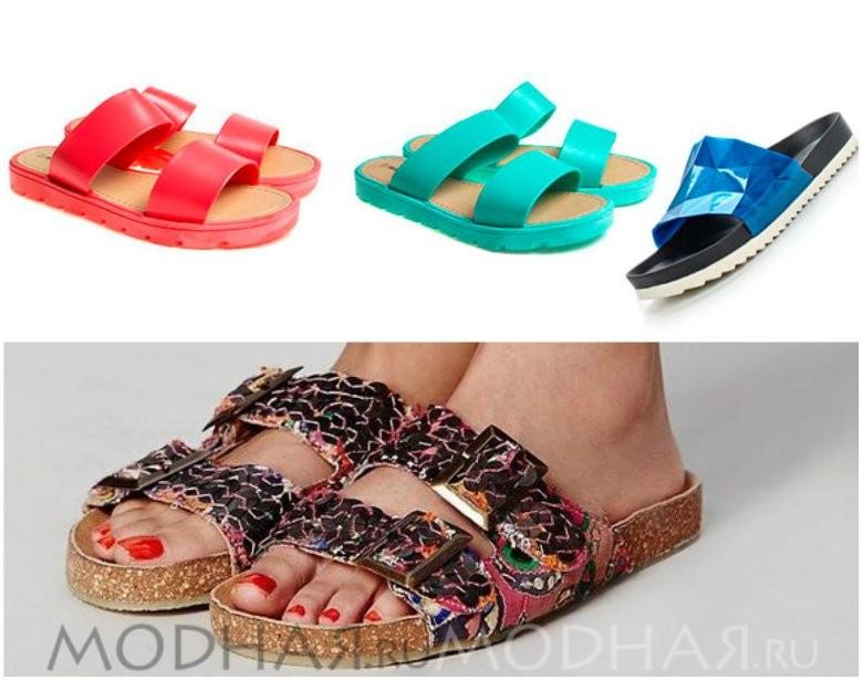 Женская модная обувь без каблука фото