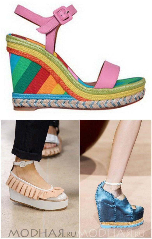 Женская модная обувь на платформе 2016 фото