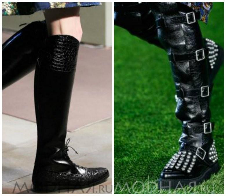 Модная женская обувь сапоги Ralph Laure черного цвета