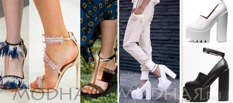 Красивая модная обувь лето 2016 фото