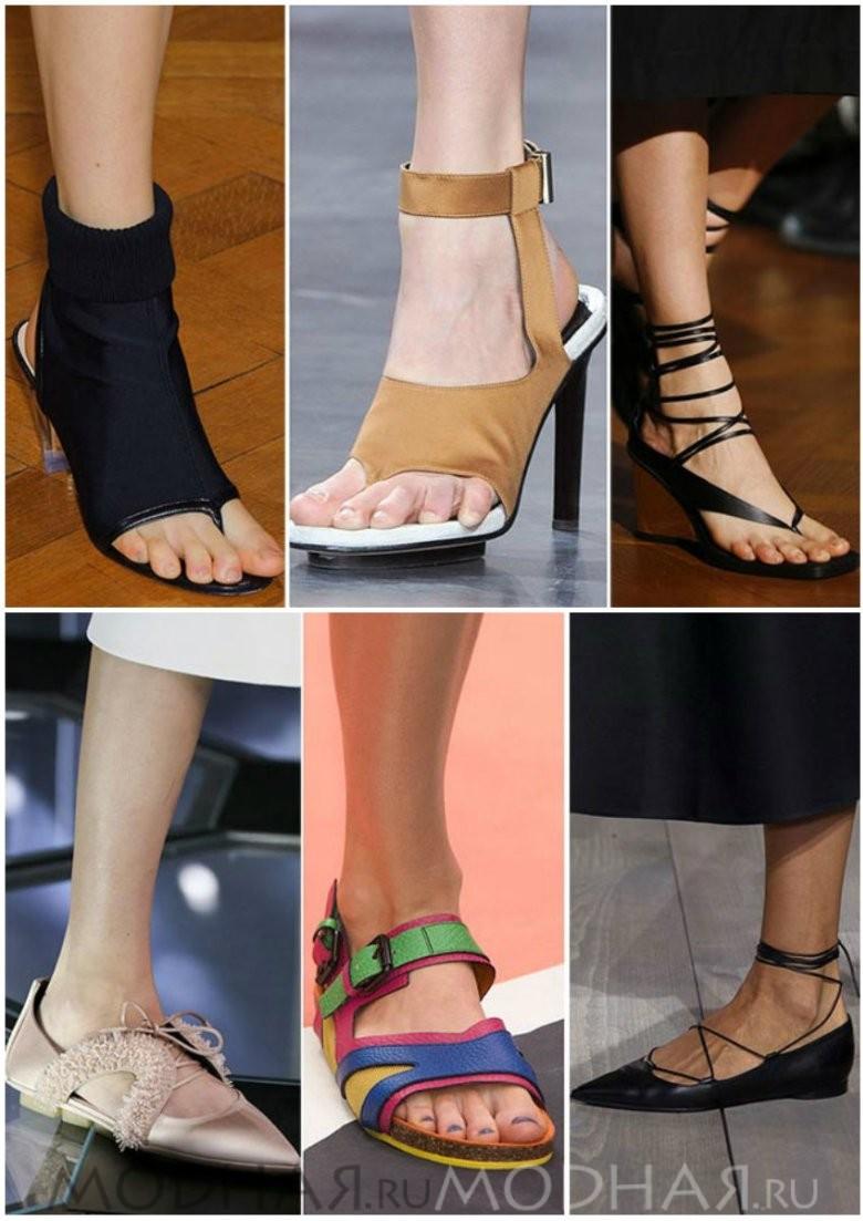 Женская модная обувь лето 2016 фото