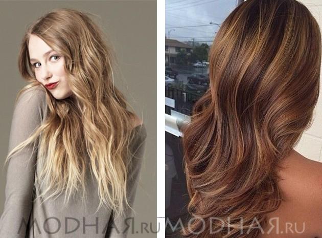 покраска 3д на темно русый волос цвета
