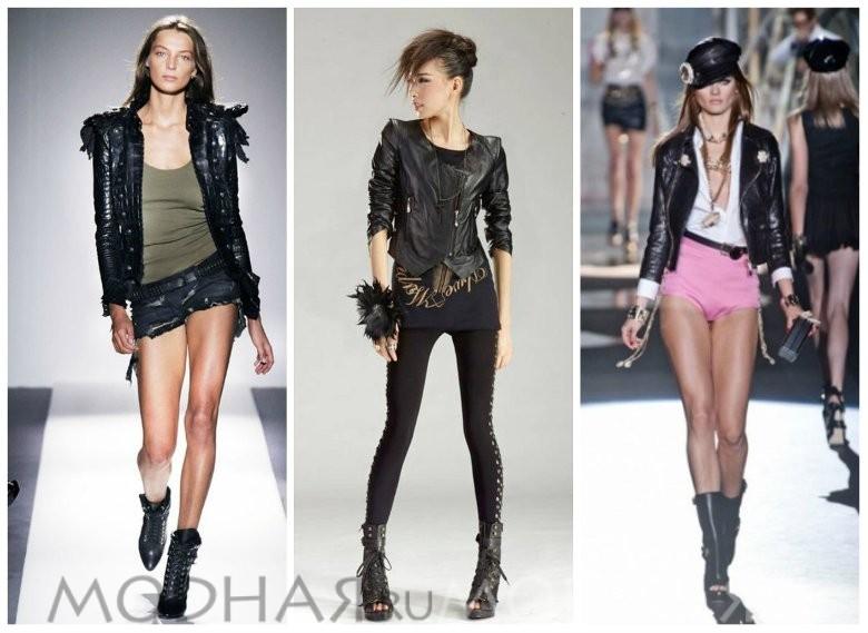 Одежда в стиле рок для девушек
