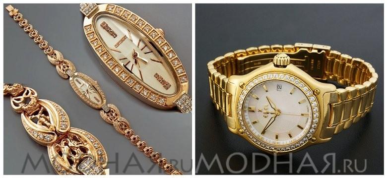 золотые часы женские с бриллиантами