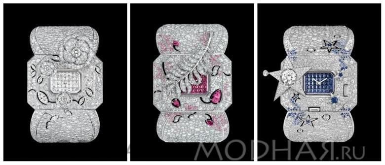 Золотые женские часы с брилиантами