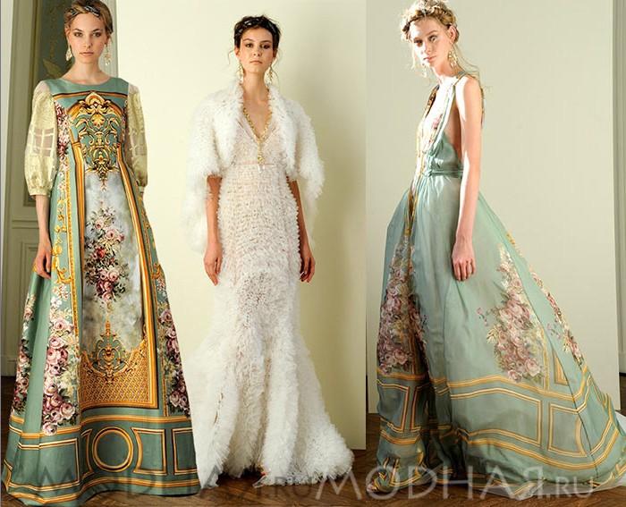 вечерние платья в пол фото