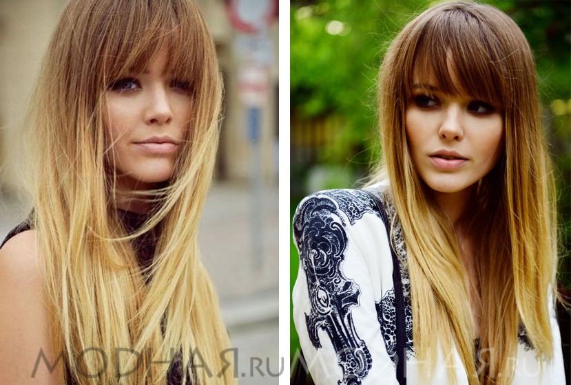 Модные причёски на длинные волосы с челкой