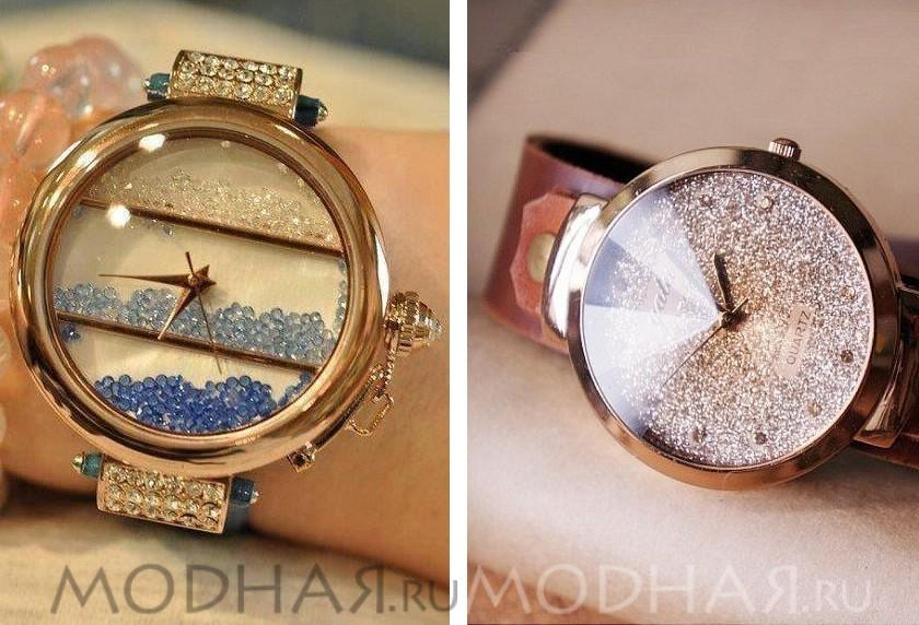 Женские часы на металлическом браслете как носить