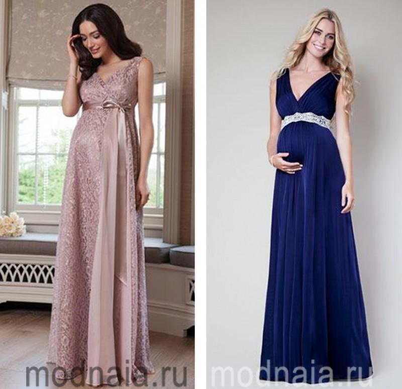 вечерние платья на Новый год для беременных