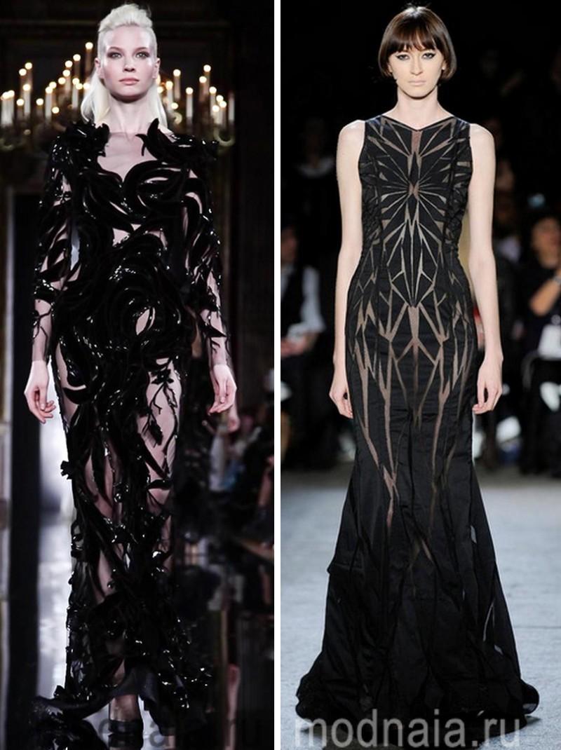 черное вечернее платье, длинное